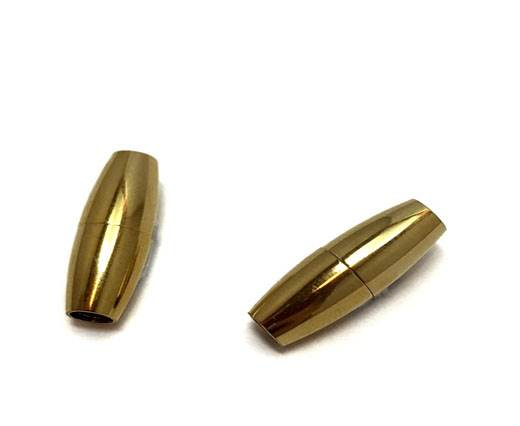Stainless Steel Magnetic Clasp,Gold,MGST-03 3mm