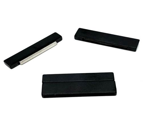 Stainless Steel Magnetic Clasp,Black Matt,MGST-105-40*3mm