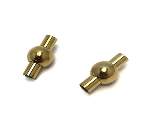 Stainless Steel Magnetic Clasp,Gold,MGST-01 3mm
