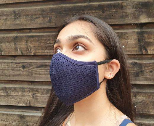 6 ply cotton washable masks - Navy Blue