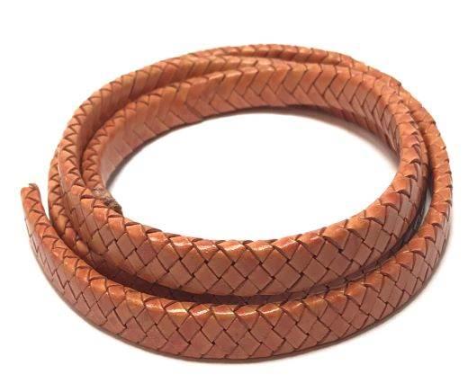 Oval braided cords-11*4.5mm-Orange