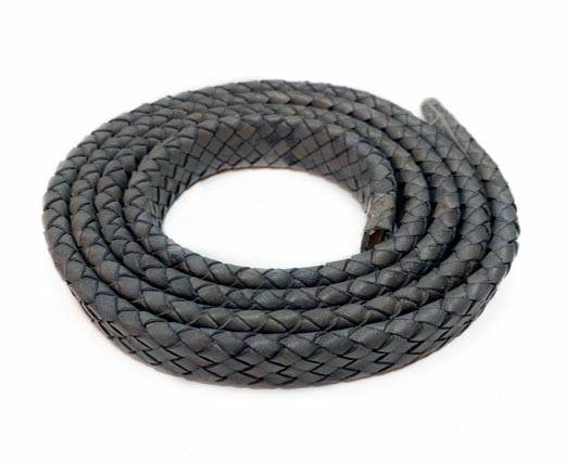 Oval Braided Leather Cord-19*5mm-SE-DB-D12