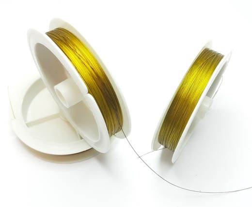 Steel wire 0.5mm - Gold