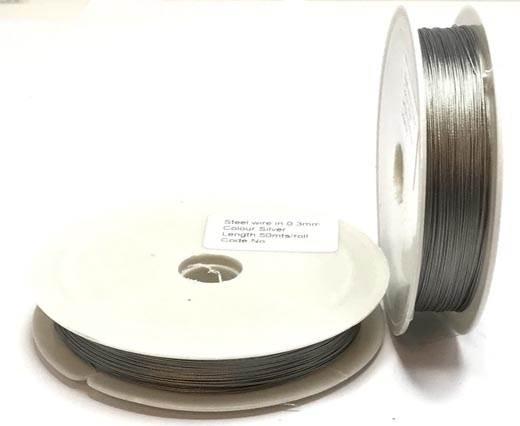 Steel wire 0.5mm - Silver