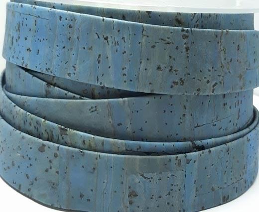 Cork Flat-20mm-Turquoise
