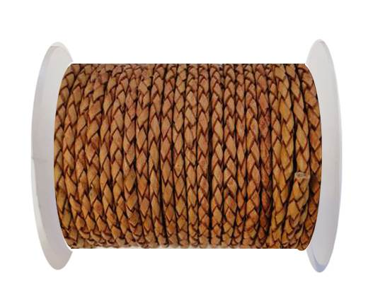 Round Braided Leather Cord SE/B/14-Bordeaux - 5mm