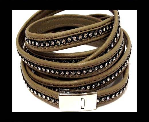 Buy 10MM Flat Nappa with Swarovski -Brown at wholesale prices