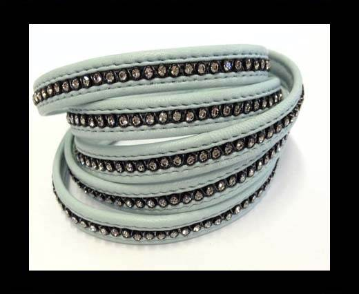 Buy 10MM Flat Nappa with Swarovski -Light Blue at wholesale prices