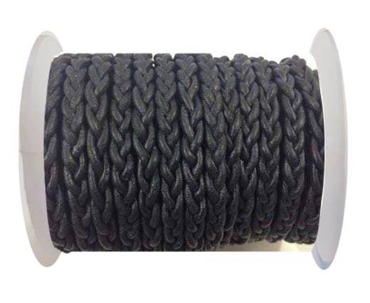 Flat Braided Cords - 3by2 -5mm  - vintage dark blue