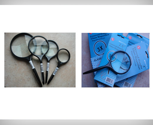 12 pcs grooved Handle Magnifier Set
