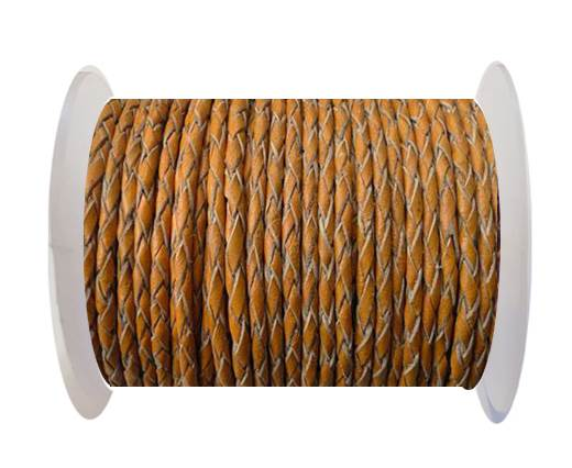 Buy Round Braided Leather Cord SE/B/2005-Fire Opal-3mm at wholesale prices