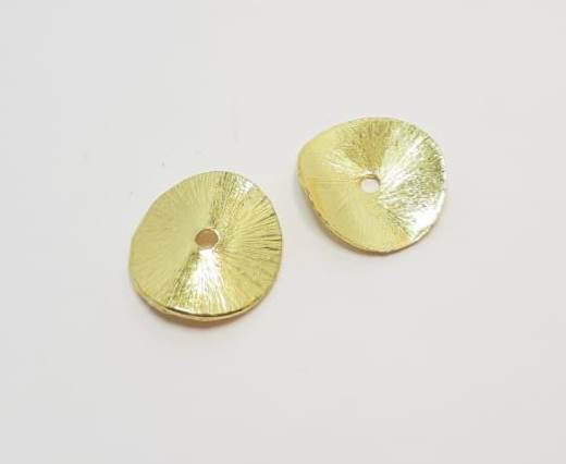 Gold plated Brush Beads - 15000