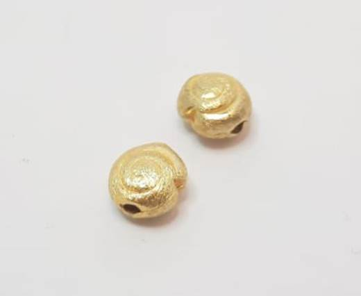 Gold plated Brush Beads - 15002