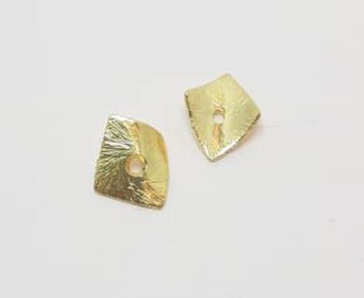 Gold plated Brush Beads - 15010