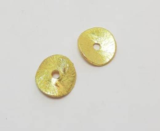 Gold plated Brush Beads - 15014
