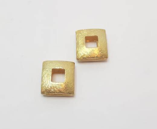 Gold plated Brush Beads - 15016