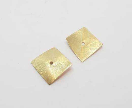 Gold plated Brush Beads - 15017