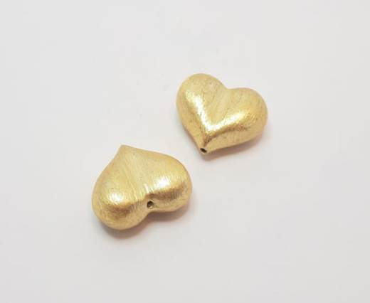 Gold plated Brush Beads - 15019