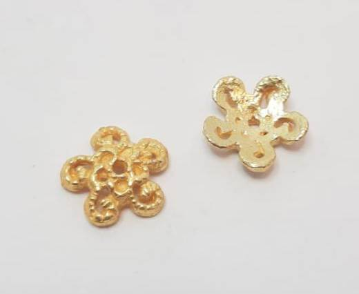 Gold plated Brush Beads - 15020