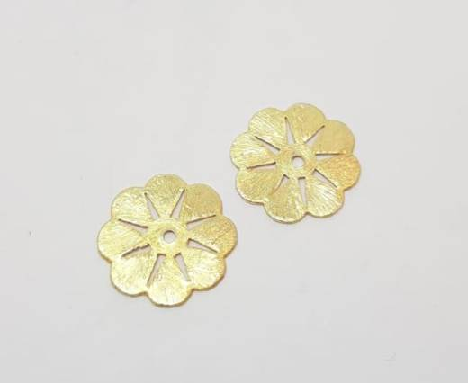 Gold plated Brush Beads - 15021