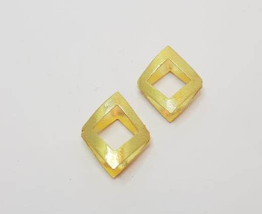Gold plated Brush Beads - 15022