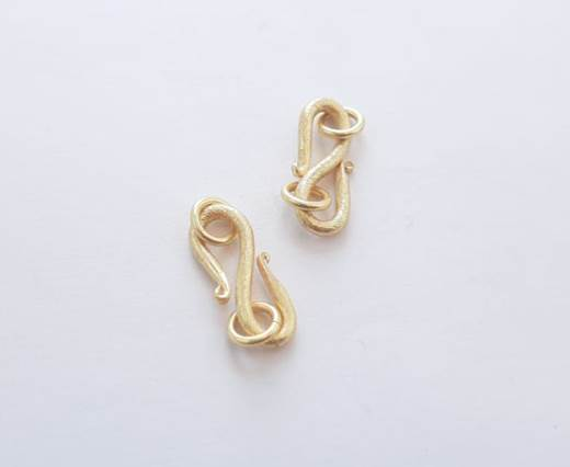 Gold plated Brush Beads - 15023