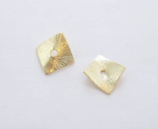 Gold plated Brush Beads - 15024