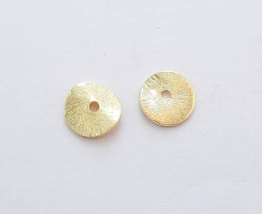 Gold plated Brush Beads - 15025