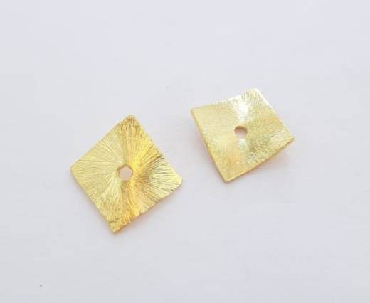 Gold plated Brush Beads - 15027