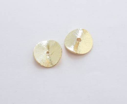 Gold plated Brush Beads - 15028