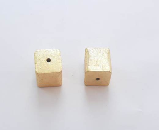 Gold plated Brush Beads - 15031