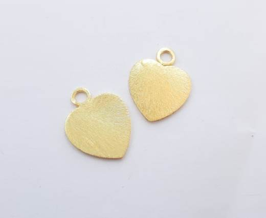 Gold plated Brush Beads - 15032
