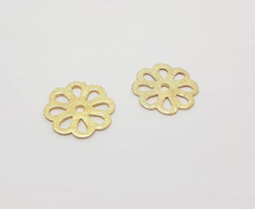 Gold plated Brush Beads - 15035