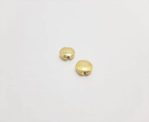 Gold plated Brush Beads - 15037