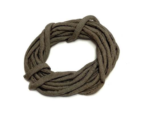 Real silk cords with inserts - 2mm - TAUPE