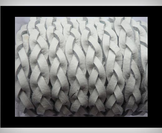 Buy 15mm-Flat Braided-White at wholesale prices