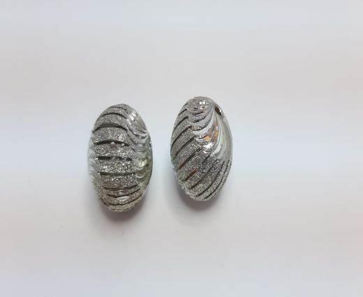 Silver Shinny beads - 17015