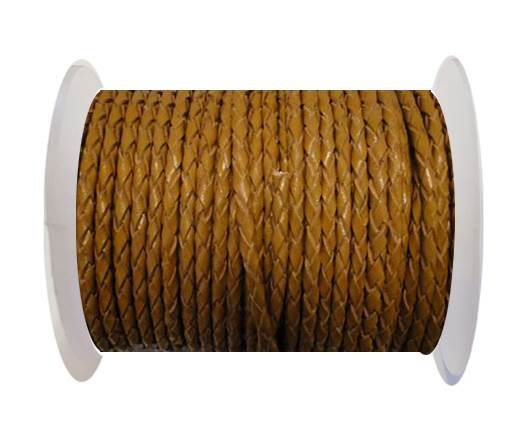 Round Braided Leather Cord SE/B/2008-Saddle Brown - 3mm