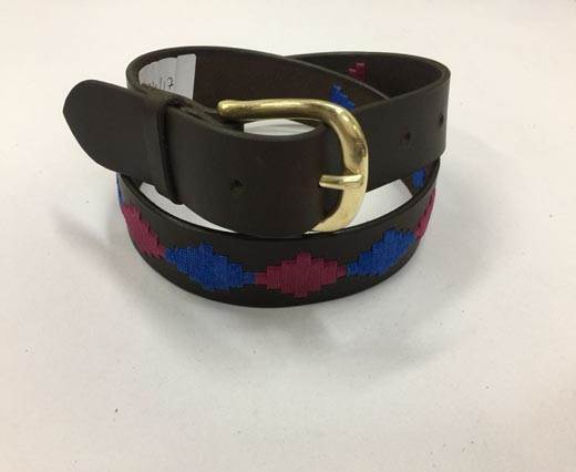 Leather Polo Belt - Style19