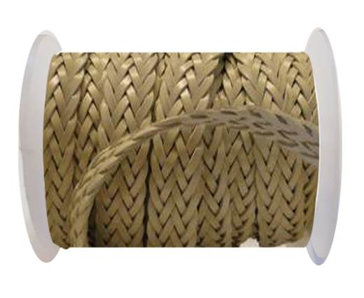 Flat Braided Cords-Style-2-12mm- Beige