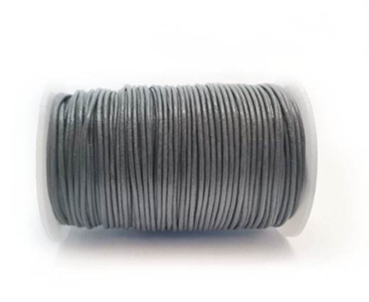 Round Leather Cord -1mm- Grey