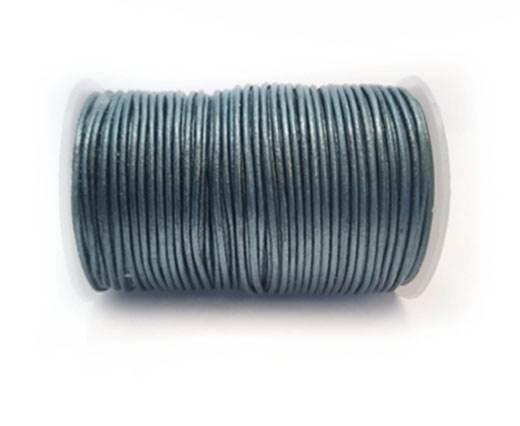 Round Leather Cord -1mm- METALLIC DARK BLUE