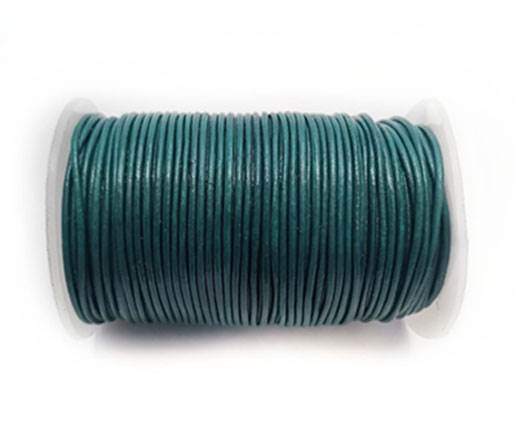 Round Leather Cord -1mm- SEA BLUE (P/03)