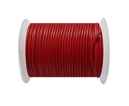 Round Leather Cord-1,5mm- Candy