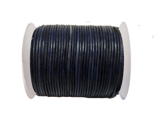 Round Leather Cord-1,5mm- Vintage Navy Blue