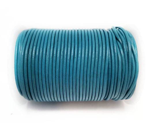 Round Leather Cord -1mm- AQUA BLUE