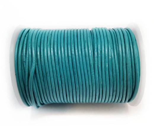 Round Leather Cord-1,5mm- LIGHT TURQUIOSE