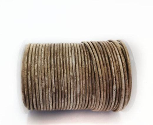 Round Leather Cord-1,5mm- VINTAGE CAMEL