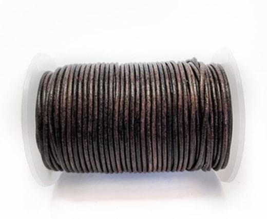 Round Leather Cord-1,5mm- VINTAGE DARK BROWN