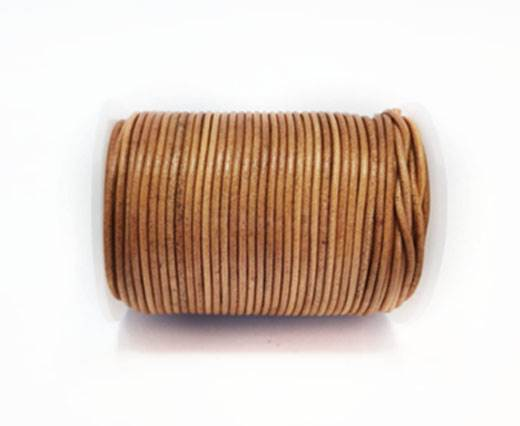 Round Leather Cord-1,5mm- VINTAGE LIGHT TAN